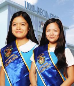 Ms. Katherine E. Co, Class Valedictorian and Ms. Charlene Grace V. Gelotin-Salutatorian