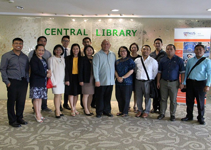 The UNO-R and Megatext Phils., Inc. delegation at NUS (National University of Singapore) Central Library