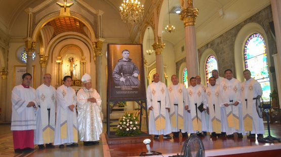 (In photoare: Fr. Brethen Gamala; Fr. Villaflor, OAR; Msgr.Pasquin; Bishop Emeritus Navarra; Fr. Almayo, OAR; Fr. Celiz, OAR; Fr. Latoza, OAR; Fr. Deo Camon; Fr. louie Gabinete, OAR; Fr. Antonio Limchaypo, OAR; and Fr. Persiuz Joseph Decena, OAR)