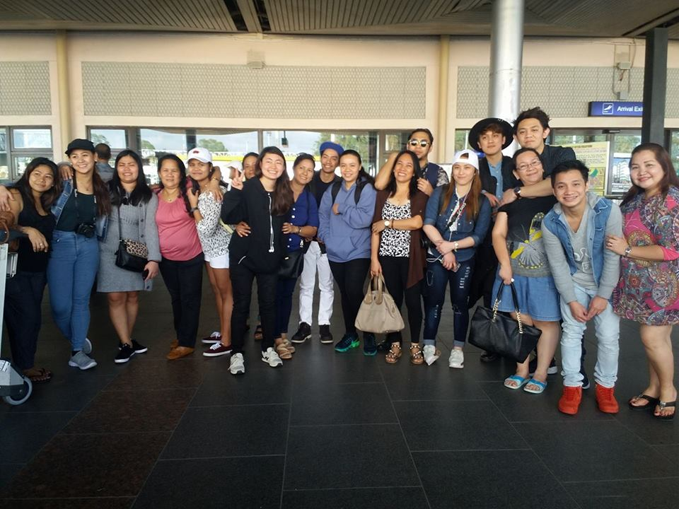The first batch of HTM International OJT in Japan upon their arrival at the Silay Airport with their parents