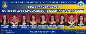 October 2018 CPA passers