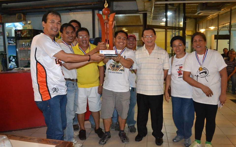 In photo are Dean C. Taclobos; Rey Montinola; Antonio Gargarita; Peter Jaena; Romero Daruca; Rev. Fr. Dionisio Cachero,OAR; Liba Doza; and Judy Mendoza