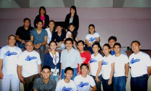 Mayor Bing with Fr. President, Fr. Moral, Fr. Gabinete and UNO-Recoletos Student Leaders