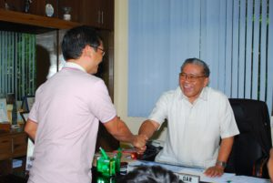 Fr. President and Cong. Teddy Casiño during the courtesy visit