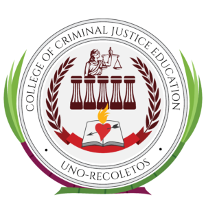 Seal of the UNO-R College of Criminal Justice Education